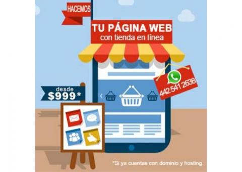 Tu Página Web con Tienda en Línea, Vende las 24hrs