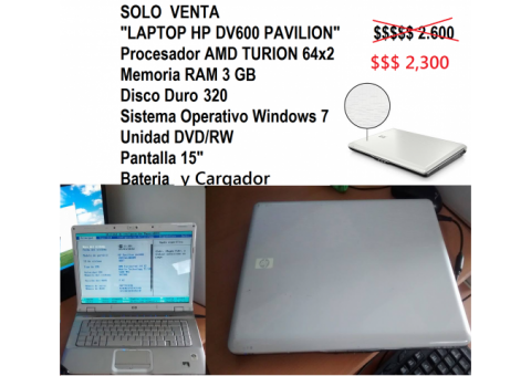 Laptop  HP DV6000
