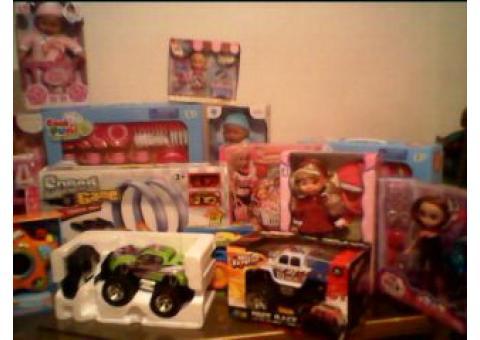variedad de lote de juguetes