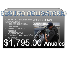 SEGURO OBLIGATORIO SOLO QUERÉTARO