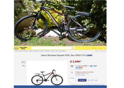 Bicicleta R 29 Veloci Repack GS